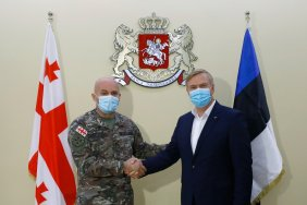 ეროვნულ გვარდიაში ესტონეთის თავდაცვის მინისტრს უმასპინძლეს