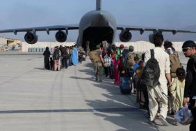 Tbilisi airport used while evacuating  people from Taliban-captured Kabul