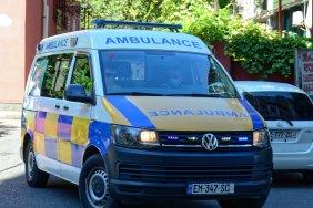 Ceiling collapses in Batumi children hospital ward